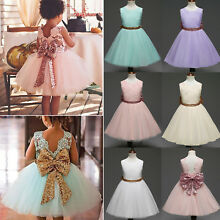 Flower Girl Princess Dress Toddler Baby Wedding Party Bridesmaid Tulle Tutu 1-6Y