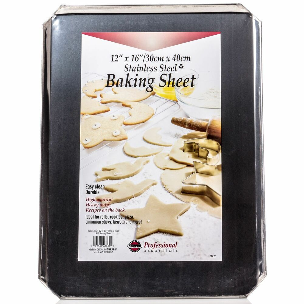 Norpro Stainless Steel 12x16 Jelly Roll Baking Pan Cookie