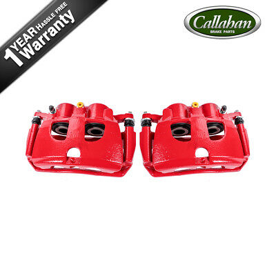 Rear Red Powder Coated Brake Caliper Pair For Dodge RAM 2500 3500