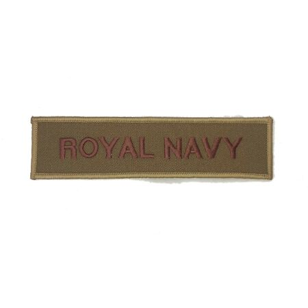 img-British Military Royal Navy Subdued Service / Name Tape - New