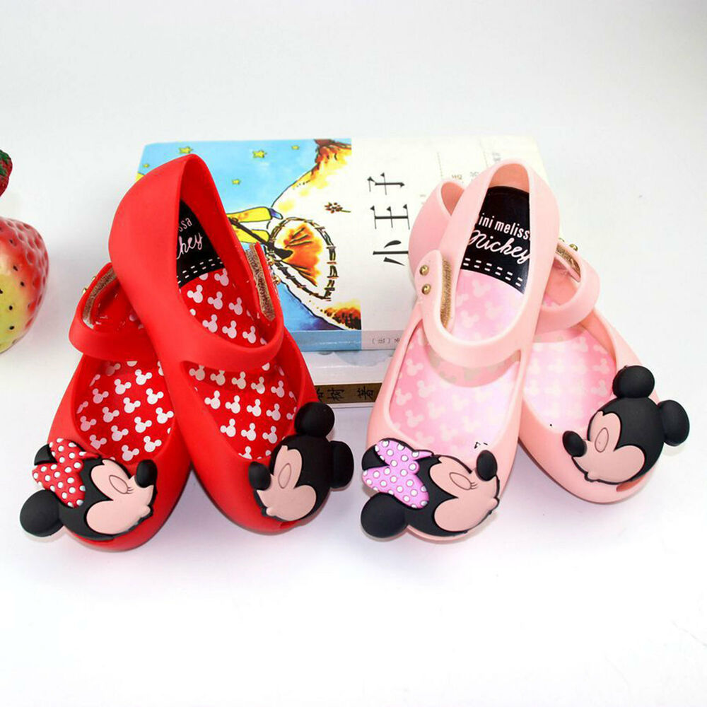 d2410eeae4604 Details about mini melissa remake Jelly Shoes Cartoon Mickey Minnie mouse  Sandals Kids Toddler