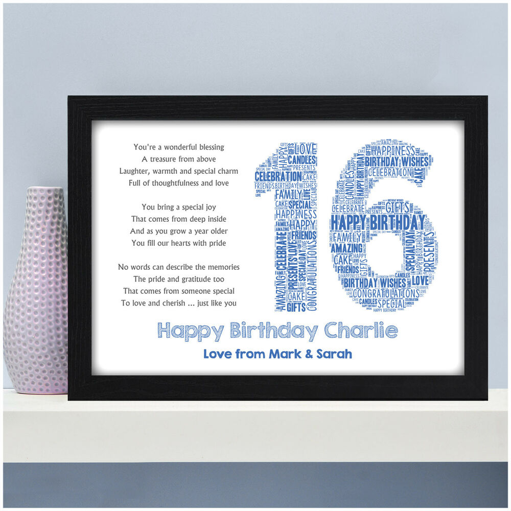 Details About Personalised 16th 18th 21st Birthday Gifts For Him Son Brother Grandson Male Boy
