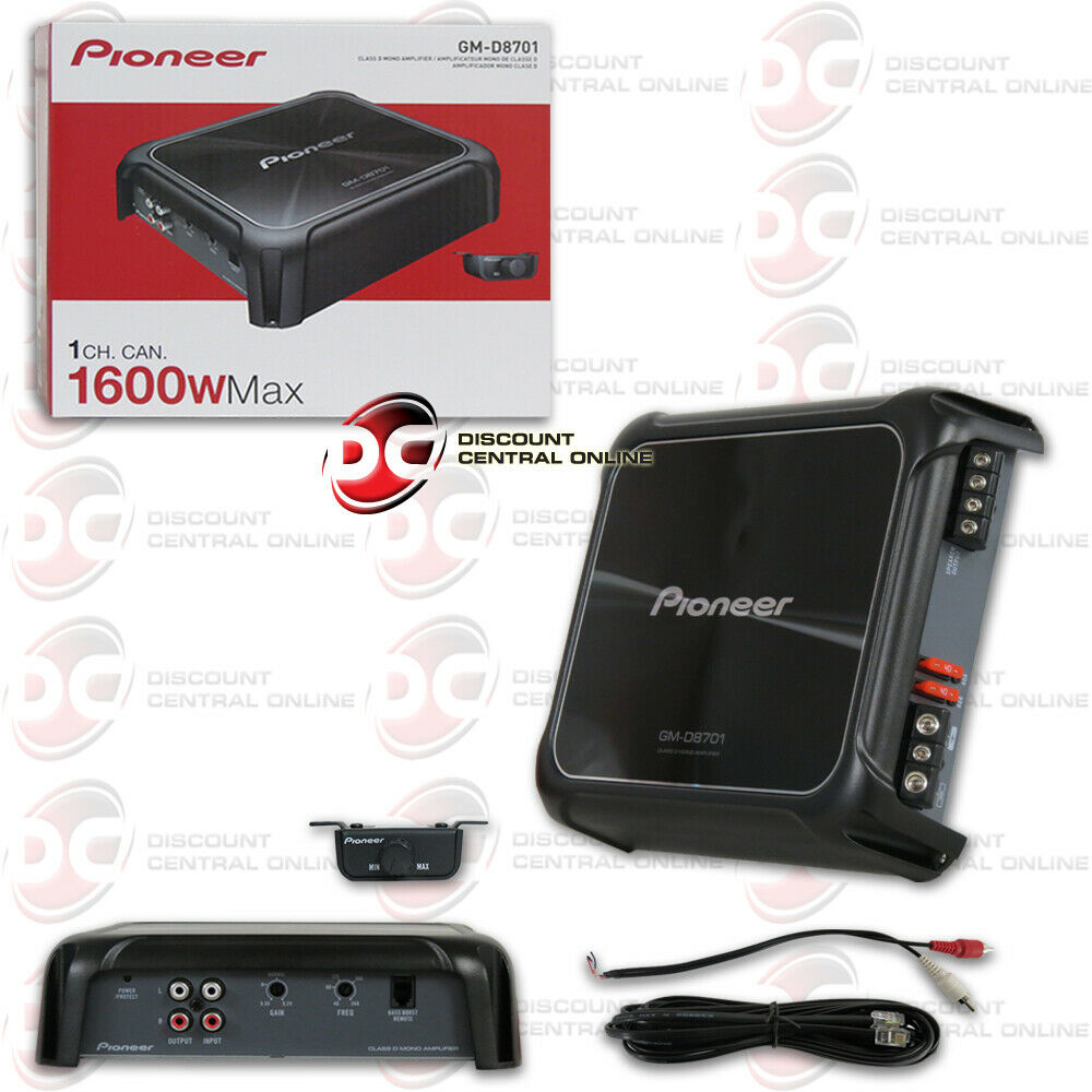 2017 Pioneer Car Audio Class D 1 Channel Mono Block Amp Amplifier Way Wiring Two Power Wire Install Kit Ebay 1600w Max
