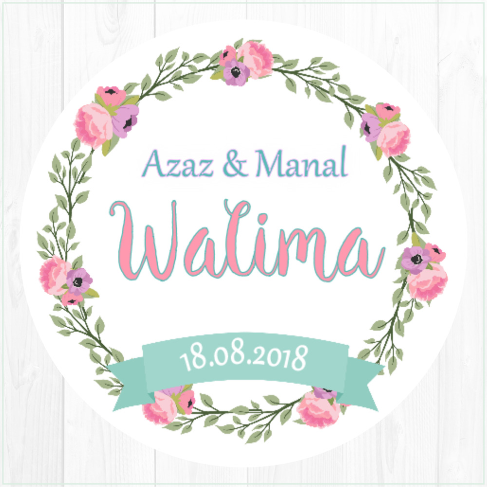 Details about walima mehndi personalised stickers country garden wedding favours sweet cone