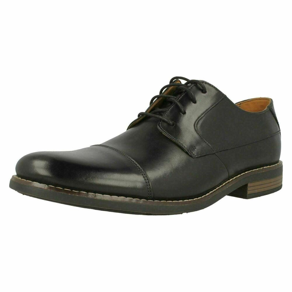 d18dbff43115 Details about CLARKS Becken Cap Mens Leather Oxford Lace Up Shoe