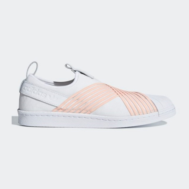 best website 6980f 3ad2d Details about New Adidas Original Womens SUPERSTAR SLIP ON WHITE   PINK  D96704 US W5 - 8 TAKSE