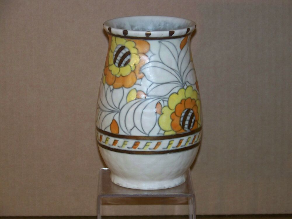 Charlotte Rhead Crown Ducal Art Deco Art Pottery Vase Ebay