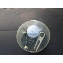 New Old Stock Guinness Golf Gift Set With Ball Ball Marker Tee & Pitch Repairer