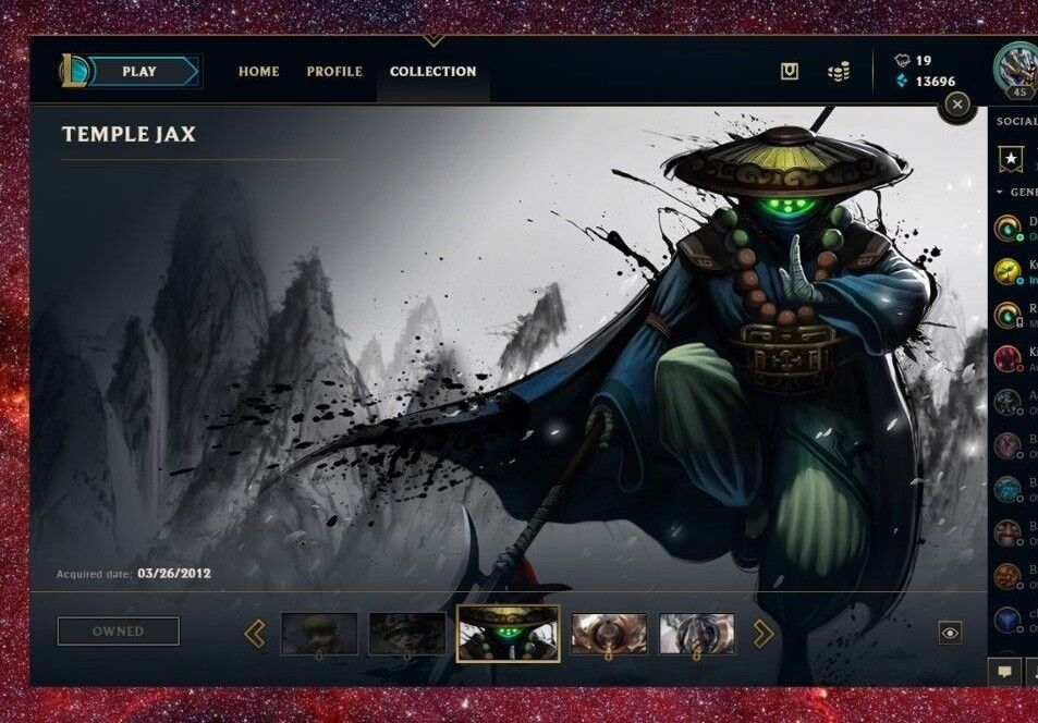 League Of Legends Account Na 94 Mastery 9 Skin 46 Icons Ebay