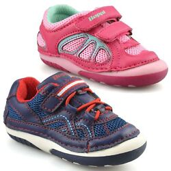Boys Girls Kids Infants Baby Toddler Casual Easy Close Strap Trainers Shoes Size