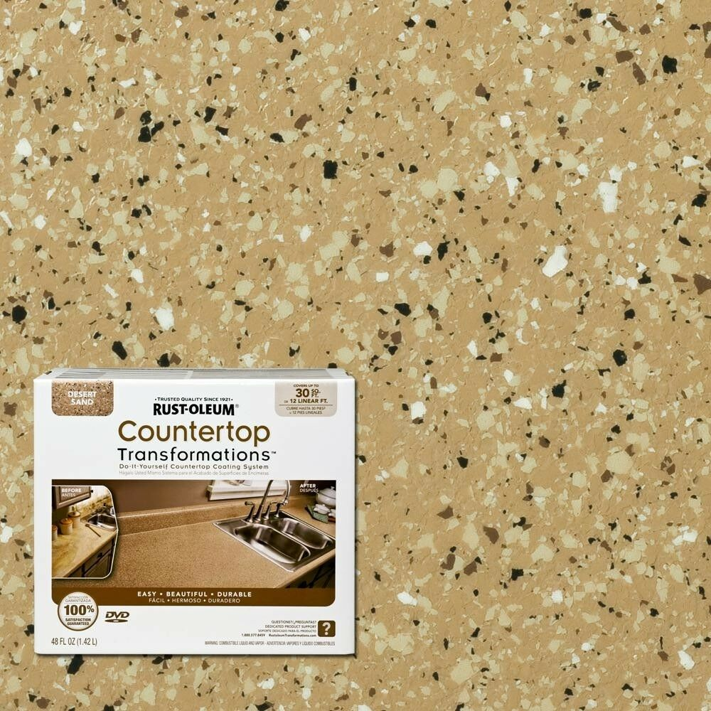 Details About Rust Oleum Transformations 48 Oz Desert Sand Small Countertop Kit