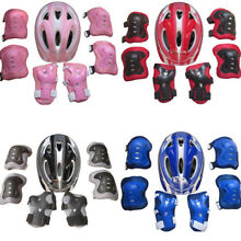 Boys Girls Kids Safety Helmet & Knee & Elbow Pad Set For Cycling Skate Bike Use