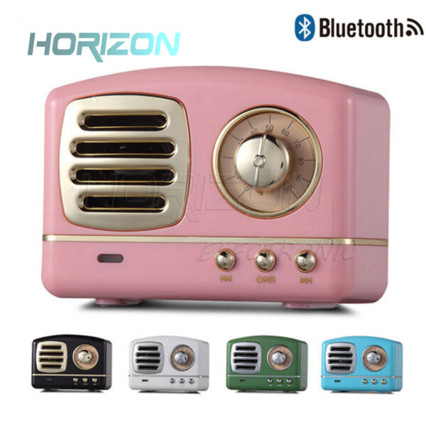 Portable Mini Retro Bluetooth Speaker Built In Mic And Aux Support Memory Card