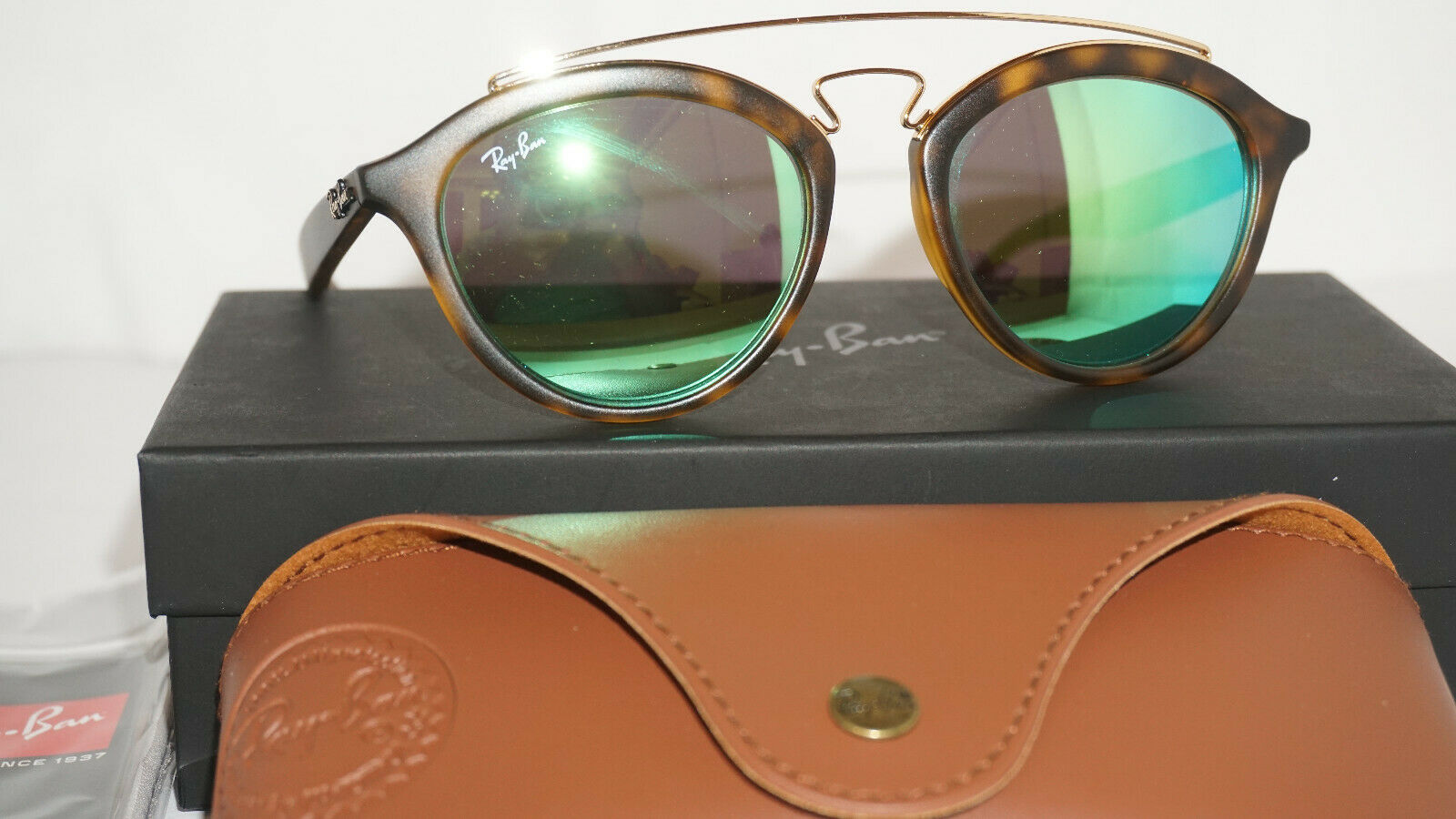 474bdcc99a ... EAN 8053672584363 product image for Ray Ban Sunglasses Gatsby Tortoise green  Mirror Rb4257 60923r 50