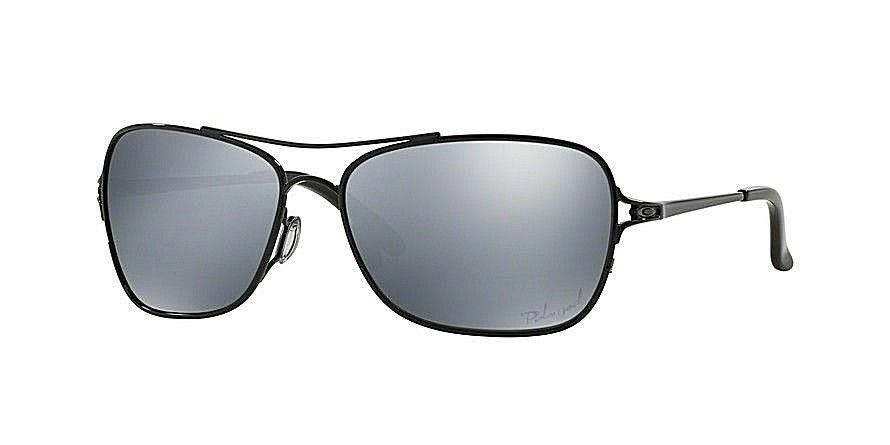 3aac8a9693 Details about Oakley Conquest POLARIZED Sunglasses OO4101-04 Polished Black  W  Black Iridium