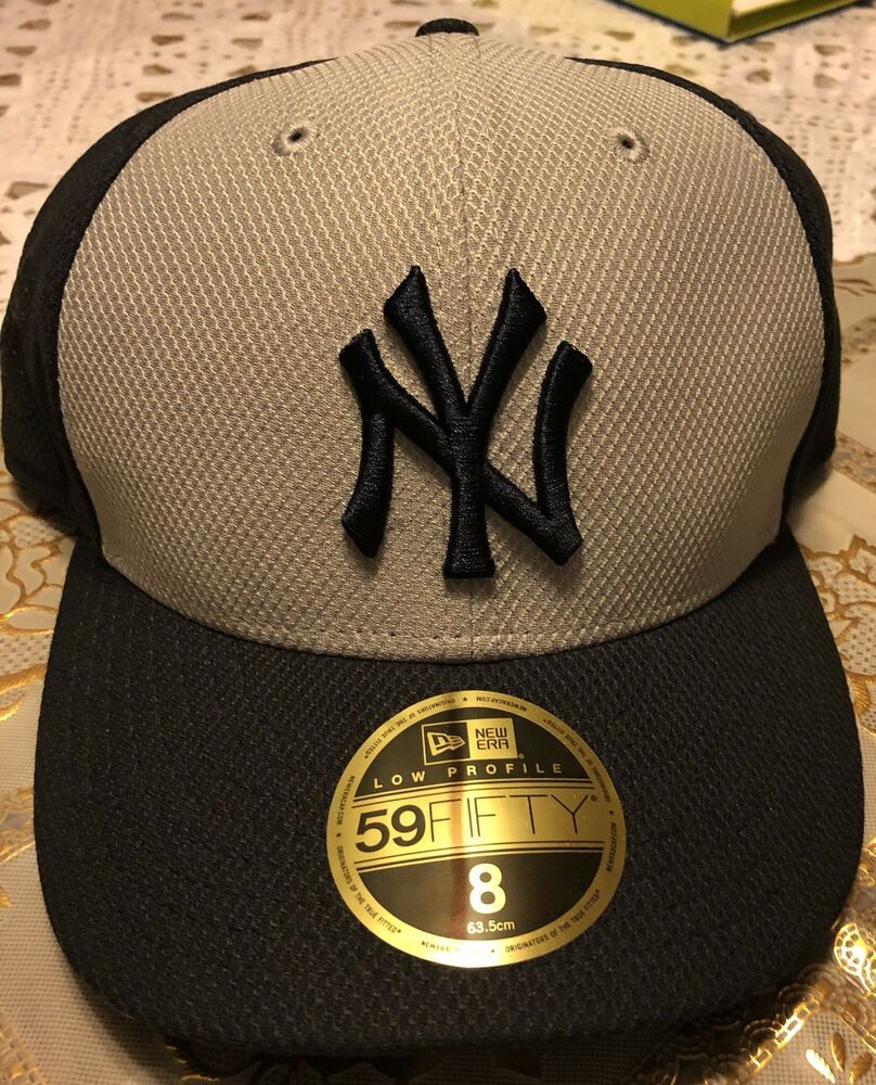 785a2bc0eabc4 Details about NEW YORK YANKEES NEW ERA 59FIFTY MLB LOW PROFILE NAVY   GRAY  FITTED HAT Sz 7 1 2