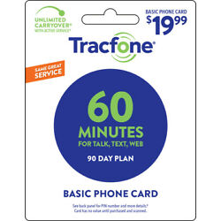 Kyпить Tracfone 60 Minute Plan - 90 Days/60 Minutes/60 Text/60MB Data на еВаy.соm