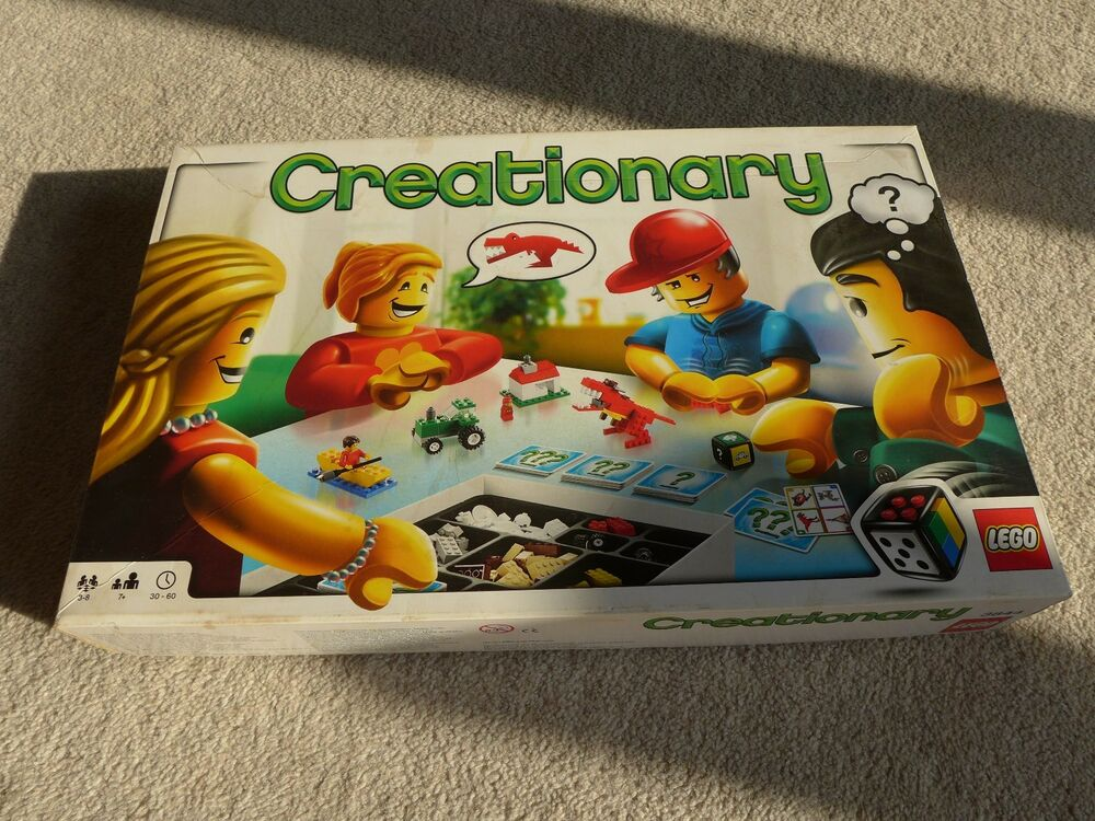 Lego Creationary 3844 Boxed Game With Cards Instructions And Dice