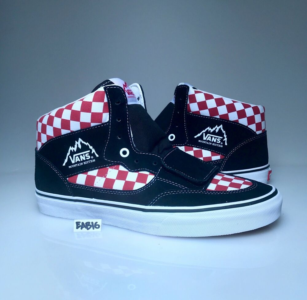 9842ecdb5c Vans Mountain Edition Checkerboard Red Black White Checker Board Checkered  Size