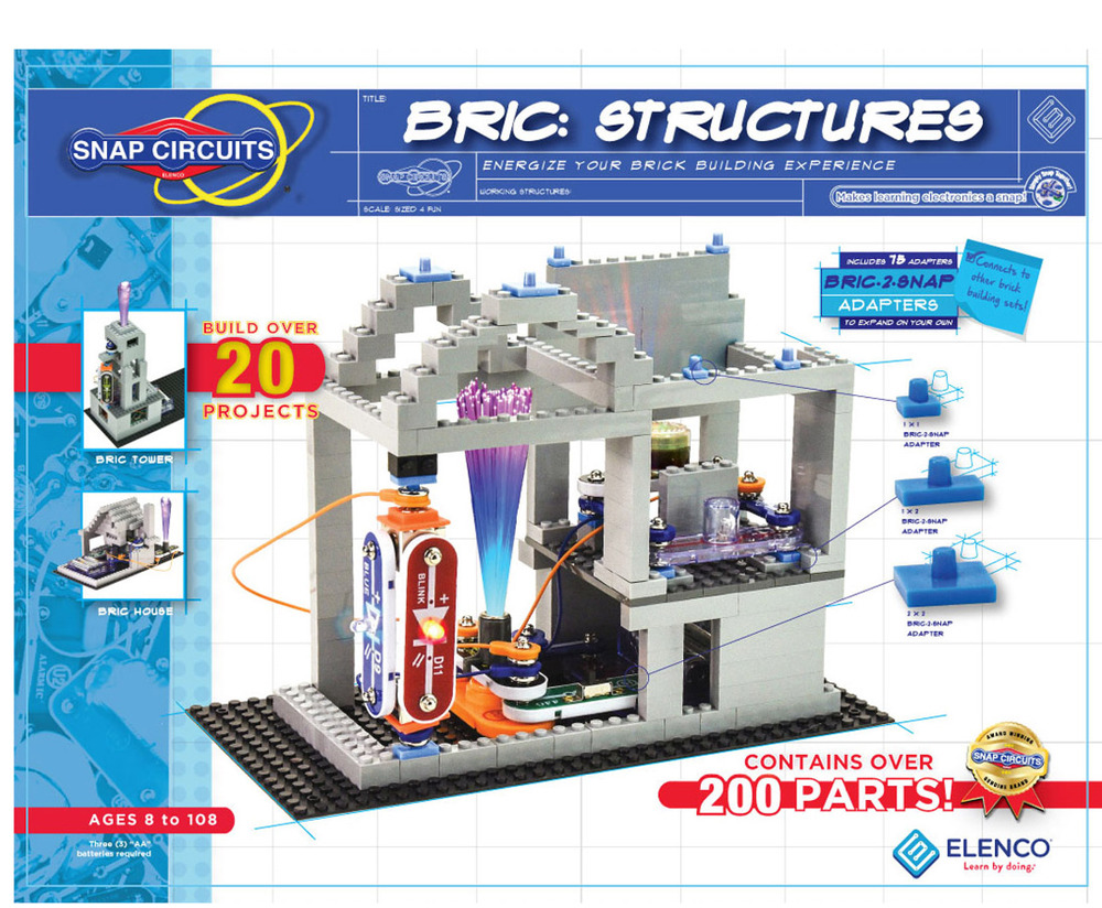 Snap Circuits Sc Bric1 Electronic Brick Building Structures Ages 8 Elenco Sc750 Extreme New Ebay