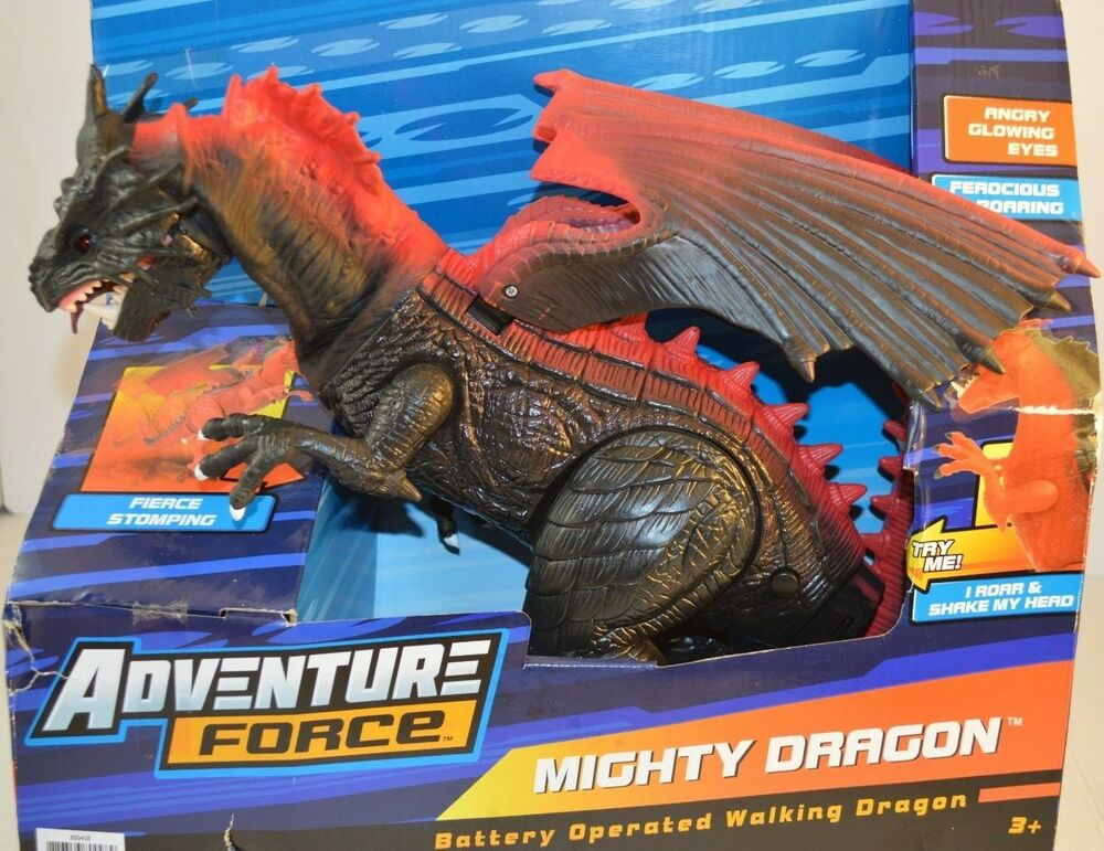 adventure force red mighty dragon battery operated walking and