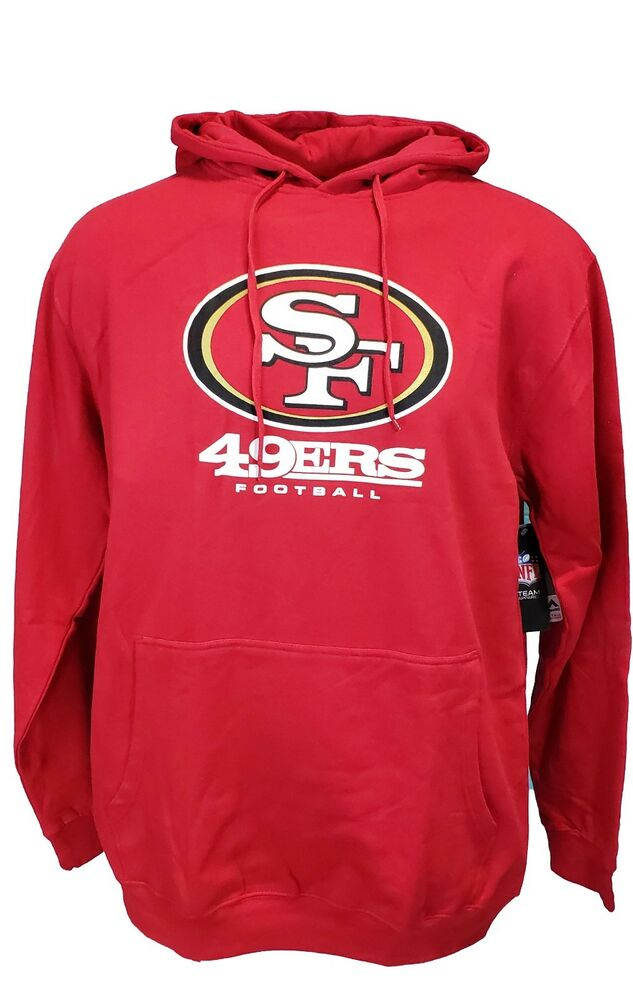 New San Francisco 49ers Red Majestic NFL Pullover Hoodie, Mens Size Big  hot sale