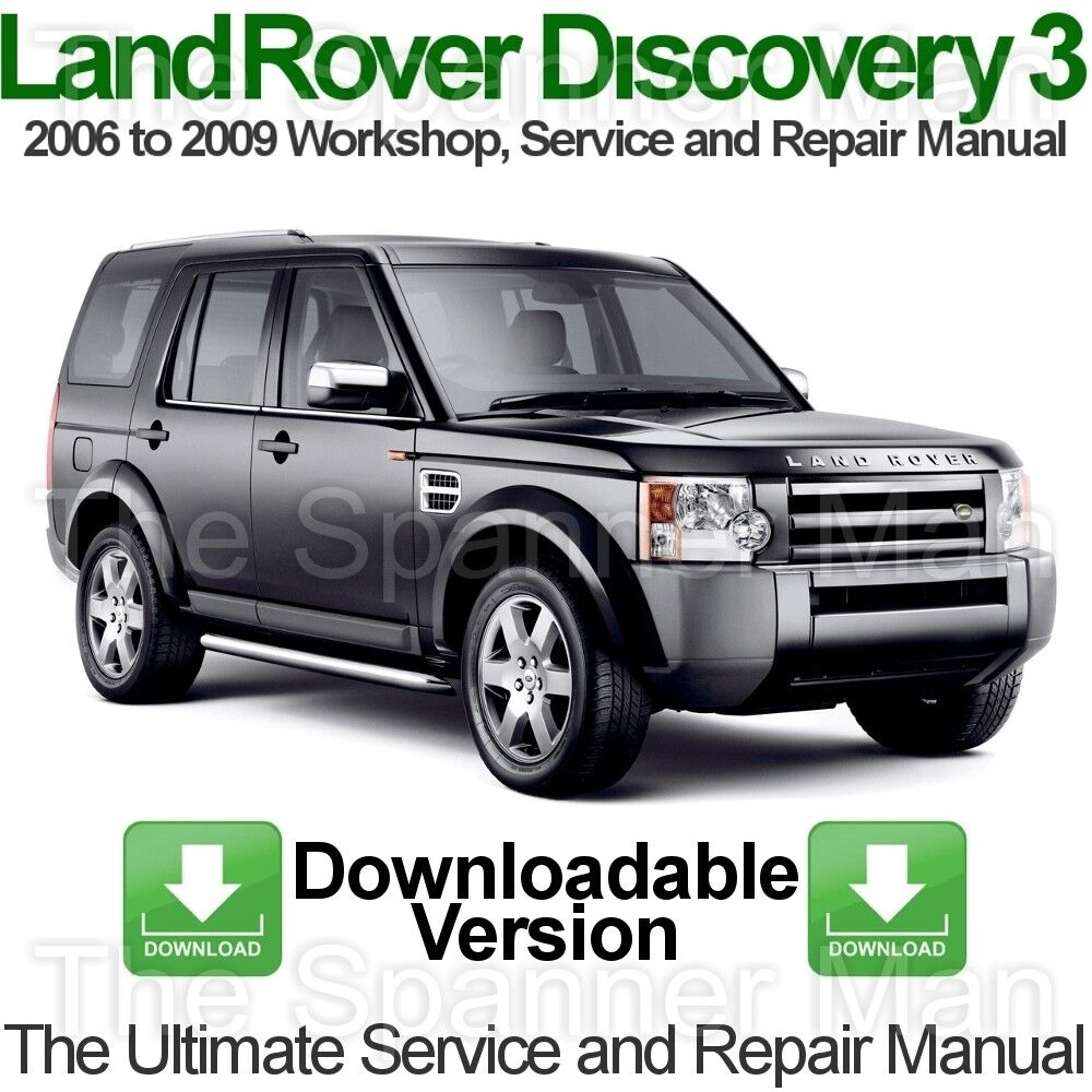 Land Rover Discovery 3 2006 to 2009 Workshop, Service and Repair Manual  DOWNLOAD | eBay