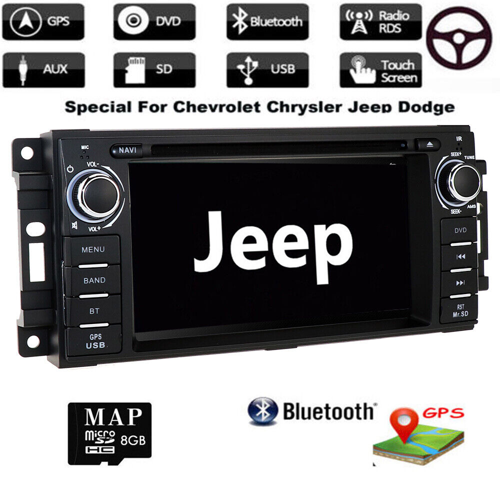 Vehicle Stereo Gps Navigation For Chrysler 300c Jeep Dodge: CHRYSLER JEEP DODGE DVD CD USB GPS Navigation SYSTEM
