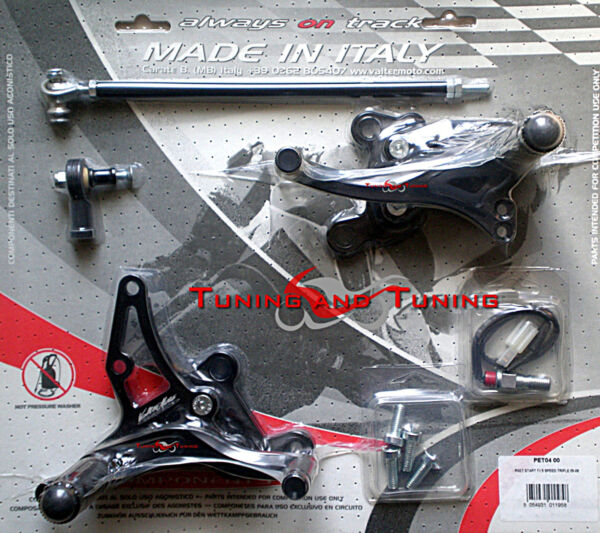 PEDANE VALTERMOTO TIPO 1.5 PER TRIUMPH SPEED TRIPLE 1050 2005 2006 2007  (PET04)