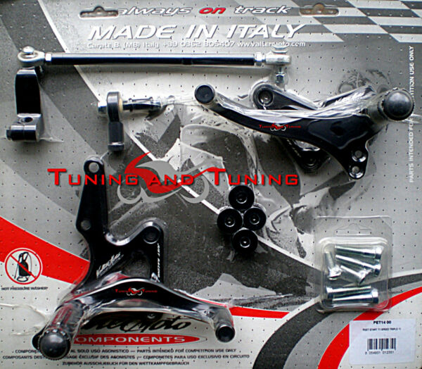 PEDANE VALTERMOTO TIPO 1 PER TRIUMPH SPEED TRIPLE 1050 2011 2012 2013  (PET14)