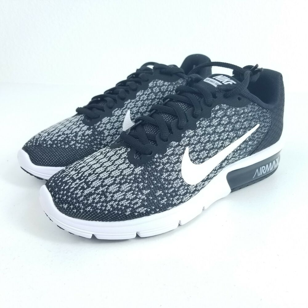 b9b8250e730 Details about NIKE Air Max Sequent 2 Womens Running Shoe Multi Size Black  Gray Knit 852465 002