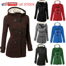 Plus Size Women Hooded Long Sleeve Winter Casual Warm Coat Outerwear Sweatshirt
