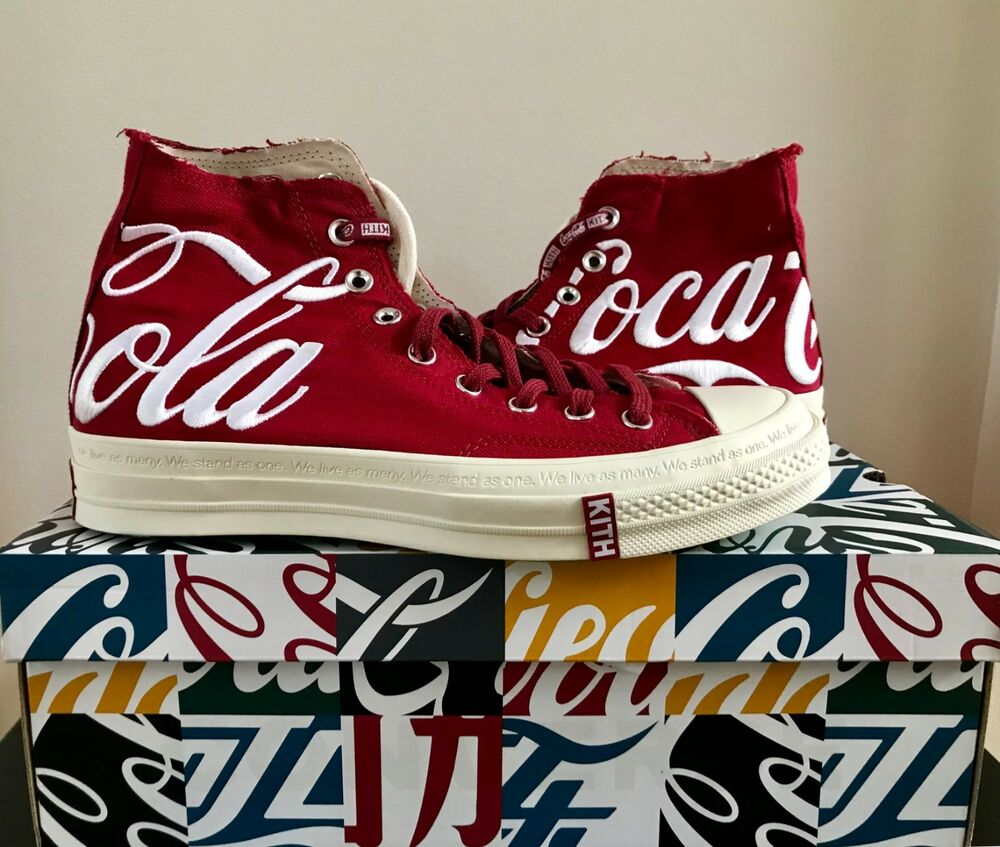 e051f81b49ec Details about DS BRAND NEW KITH COCA COLA COKE CONVERSE CHUCK TAYLOR ALL  STAR 70S HI RED USA