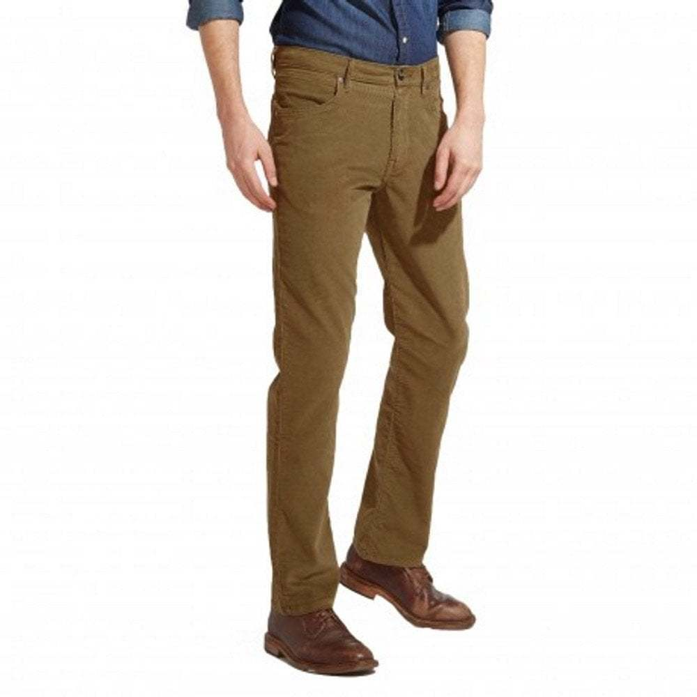 82ee6d65 Details about Wrangler Arizona Stretch Regular Fit Straight Leg Authentic  Cords Safari Khaki
