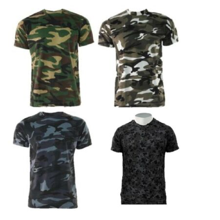 img-GAME Mens Camouflage T Shirt Army Camo Military Hunting Fishing Tee Top