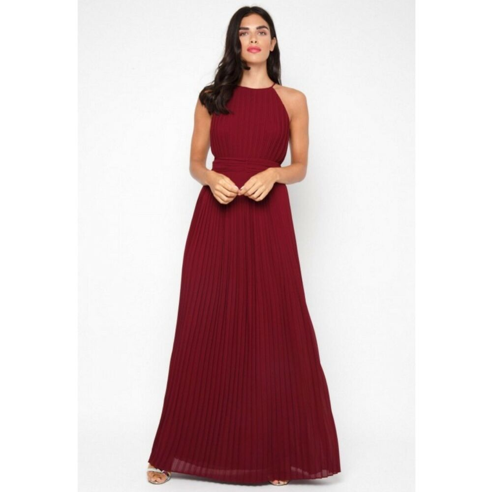Details about Beautiful Brand New TFNC Serene Burgundy Maxi Dress b28e6c731