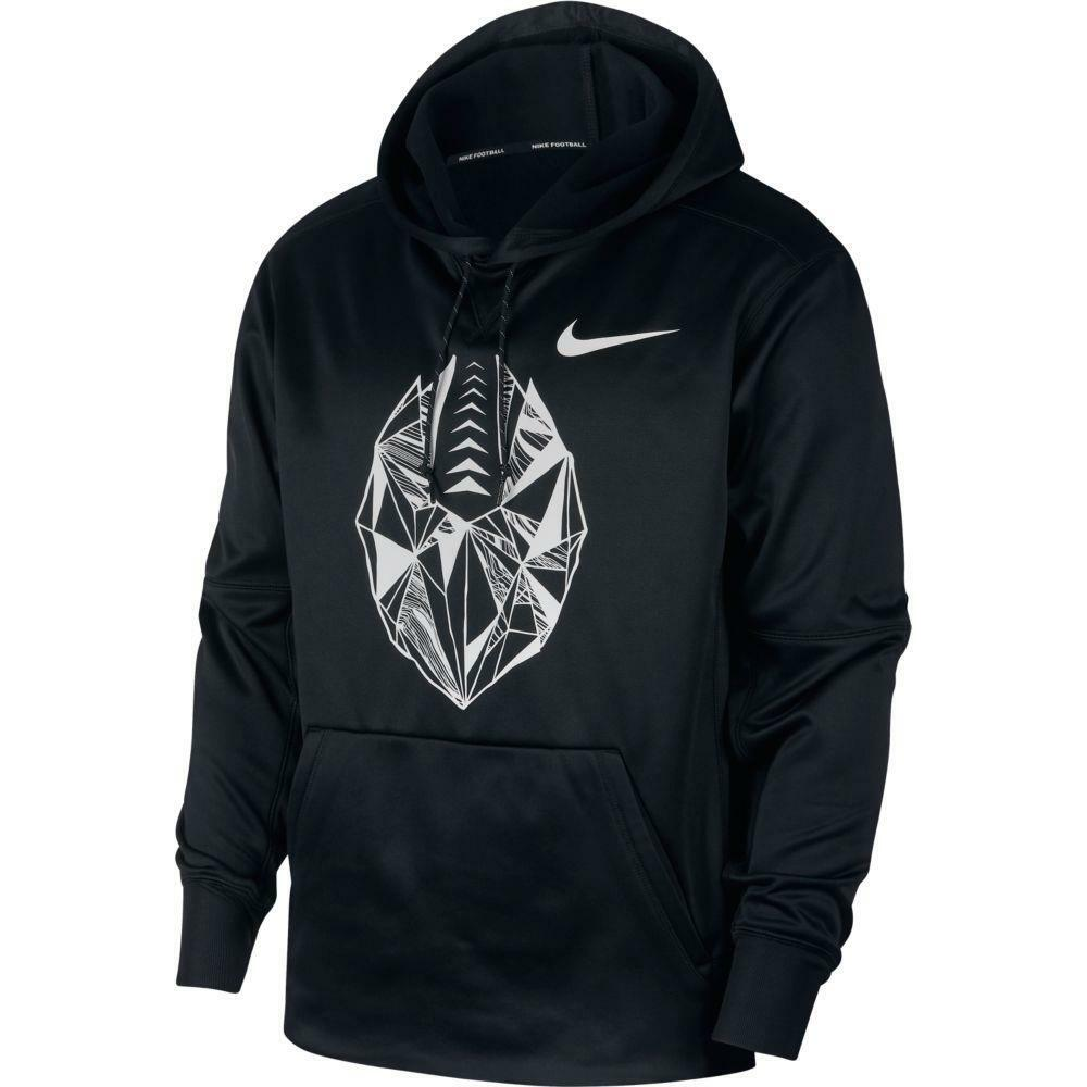 c02edeb496e18 Details about NWT Nike Men's Therma Football Hoodie 905957-010 Black