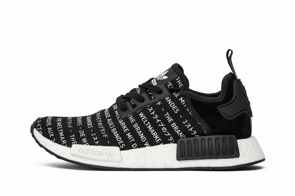 7eb5979d9 Details about Adidas NMD R1 Blackout 3 Three Stripes Size 9.5. S76519 Yeezy  Ultra Boost PK 12