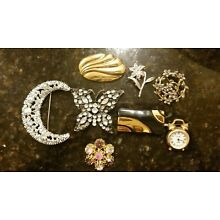 Costume jewelry lots pins/brooches