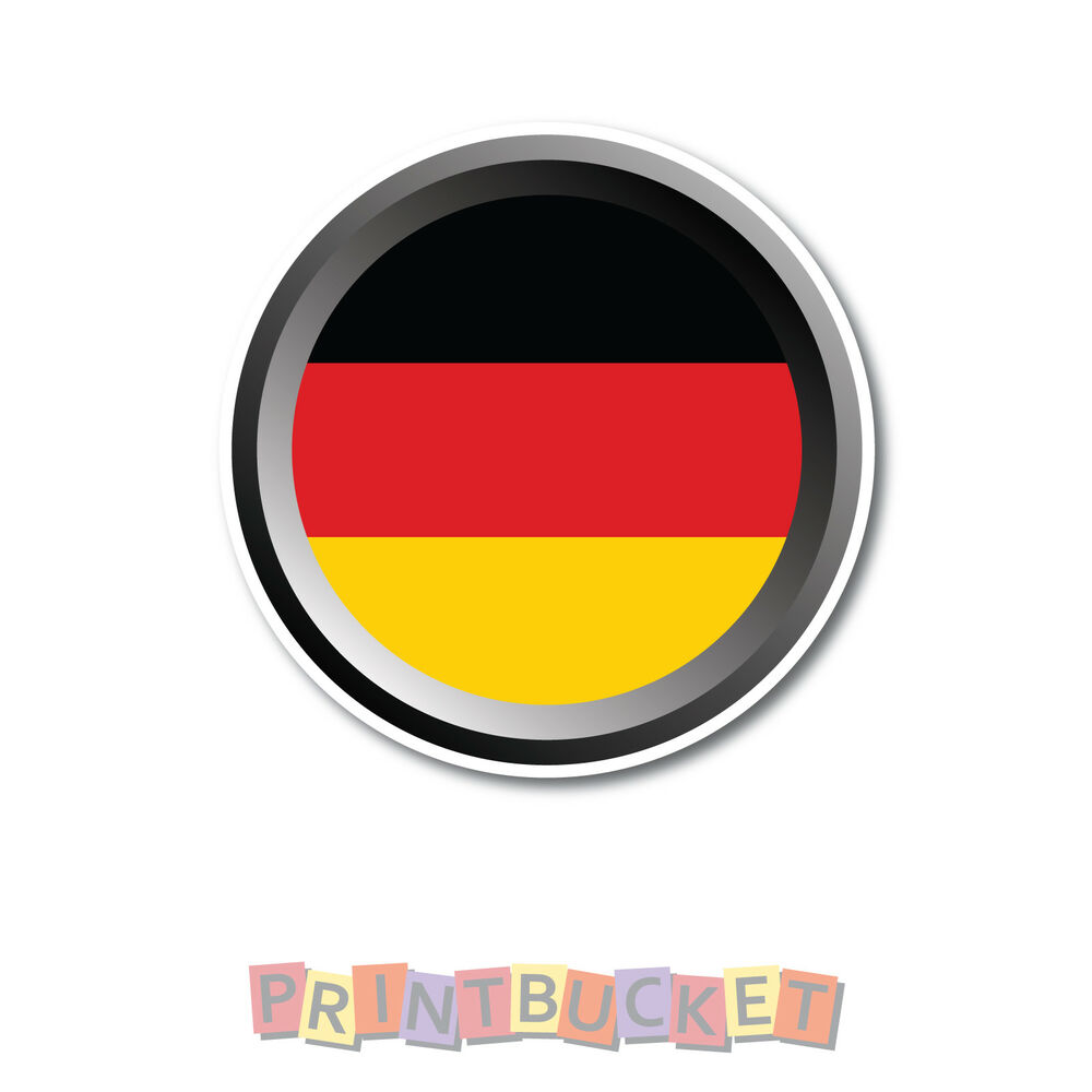 Details about german flag sticker 90mm quality water fade proof vinyl
