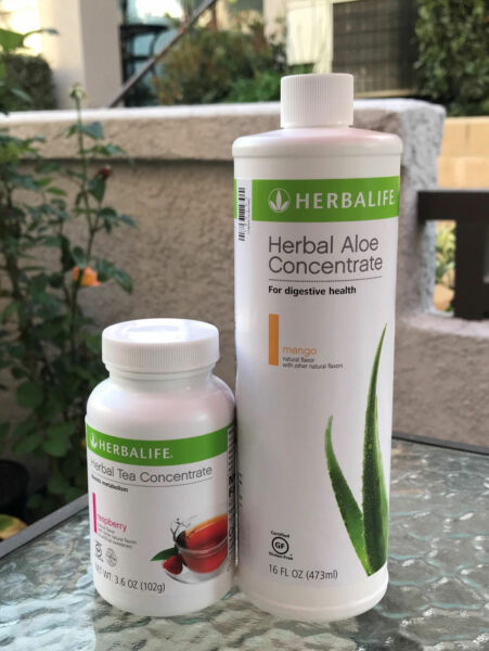 Herbalife Aloe concentrate + Herbal Tea Concentrate 1.8 Oz - 3.53 Oz From US