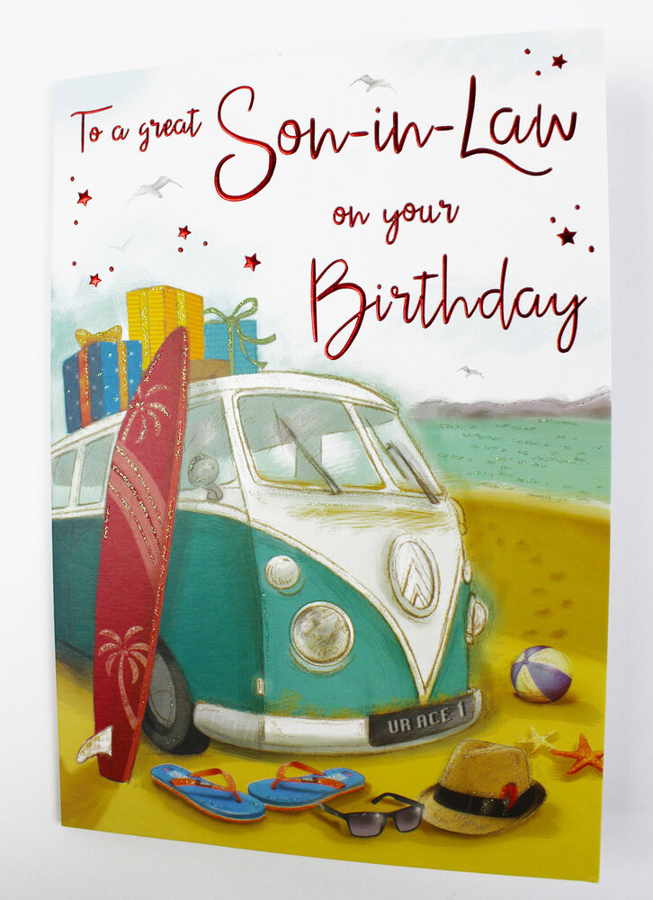 Details About Happy Birthday Son In Law Greeting Card Envelope Seal Quality Verse Him