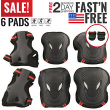 Kids Knee And Elbow Pads Wrist Protective Guards Youth Skateboard Scooter Bike