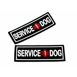 3D Rubber PVC Service Dog Patch Label Tag For Dog Harness Collar Vest