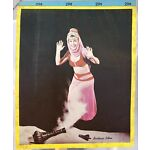 RARE VINTAGE 1960's BARBARA EDEN I DREAM OF JEANNIE WRITING TABLET NOTEPAD COLOR