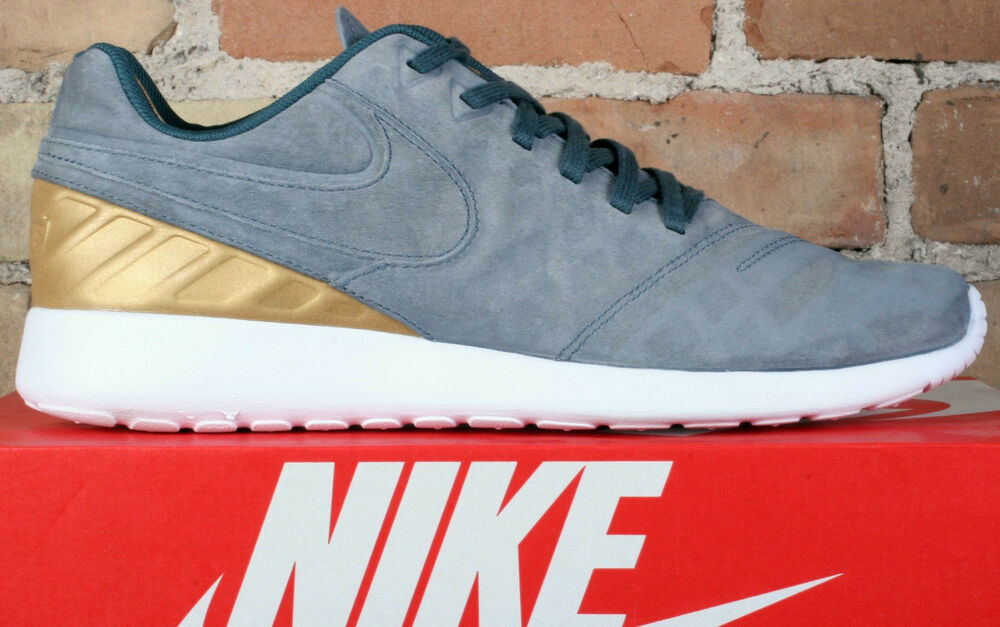 f770eea3b5b7 Details about New Nike Roshe Tiempo VI FC Blue Fox Grey Gold Soccer Shoes 852613  400 - Size 9