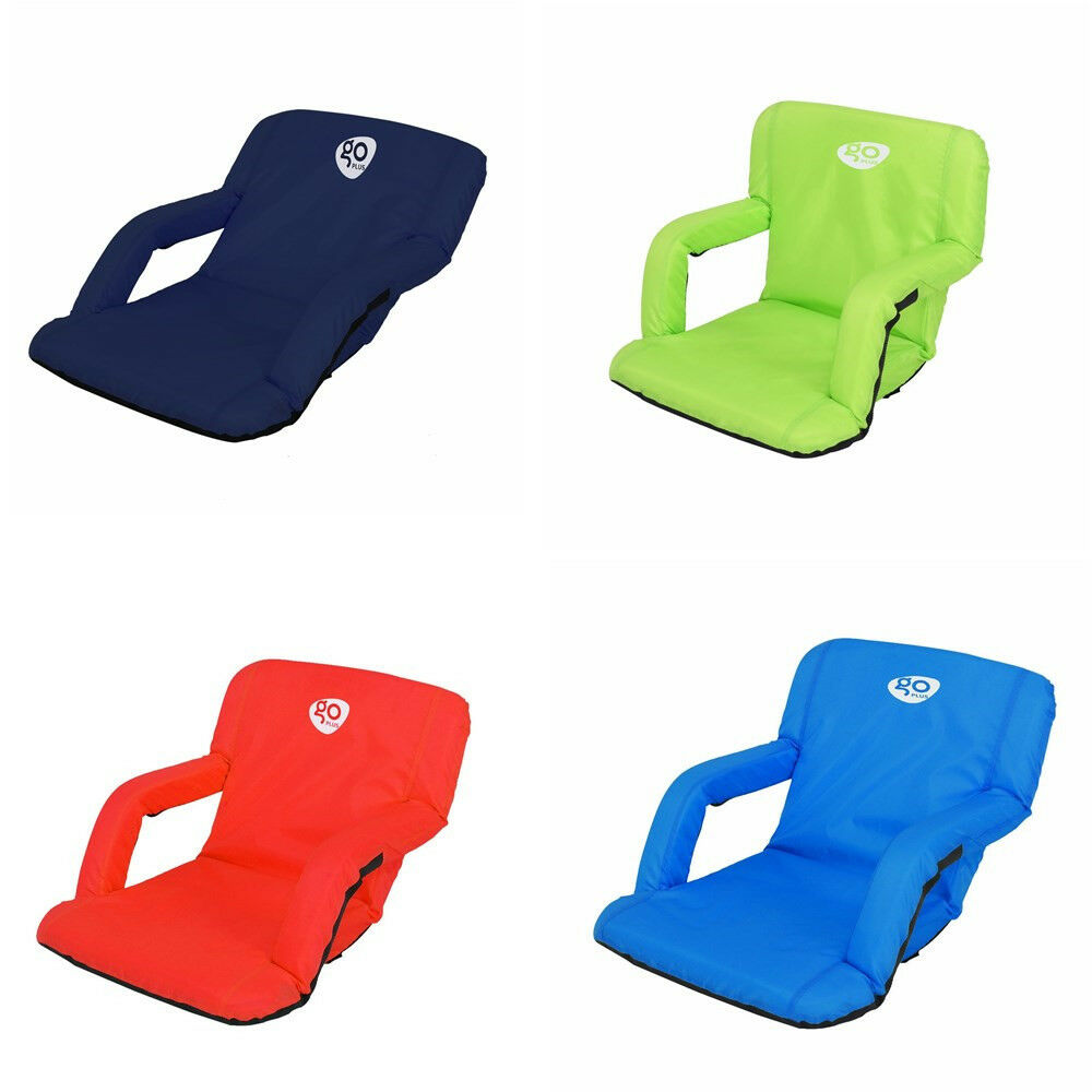 Portable Reclining Seat Padded Cushion Outdoor Camping