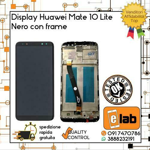 DISPLAY TOUCH SCREEN LCD HUAWEI MATE 10 LITE RNE-L21 L01 CON FRAME NERO SCHERMO