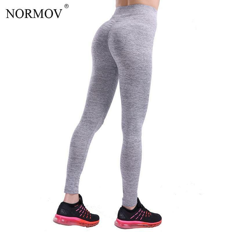 2ae8ac53a56d9 Details about NORMOV Casual Push Up Fitness Leggings Women Sportswear Workout  Legging Jeggings