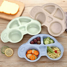 Baby Kids BPA-Free Plastic Placemat Suction Plate One-Piece Feeding Dishes Bowl